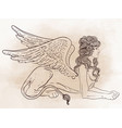 sphinx mythical creature with head human body vector image