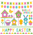 spring and easter design elements set vector image