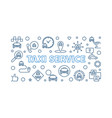 taxi service concept outline horizontal vector image