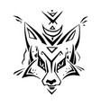 tribal pattern fox polynesian tattoo style vector image vector image