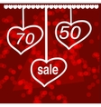 Valentine s day sale design concept vector image