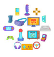 video game icons set cartoon style vector image vector image