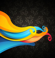 wave on dark background vector image