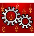 wheel gears vector image vector image