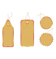 wooden price tags vector image