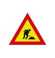 work in progress road icon vector image vector image