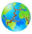 world crisis concept vector image