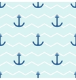 Tile sailor pattern with anchor on stripes vector image