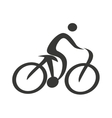 human figure silhouette bicycle icon vector image