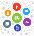 7 network icons vector image vector image