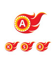 a k s r letter logo concept vector image