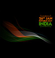 abstract tricolor banner with indian flag for 26th vector image vector image