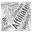 Affiliate Tracking Software Review Affiliate Wiz vector image vector image