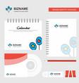 balloons logo calendar template cd cover diary vector image