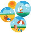 beach holiday vector image vector image