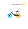 Bicycle Logo design icon and gear sign vector image vector image