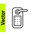 black line digital door lock with wireless vector image vector image