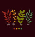 botanic clipart set branches vector image vector image