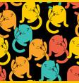cat licks itself pattern seamless home pet vector image vector image