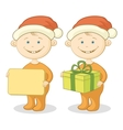 Children Santa Claus vector image