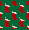 christmas socks seamless pattern vector image vector image
