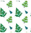 christmas tree pattern new year fir and spruce vector image