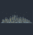 city landscape template thin line night city vector image vector image