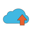 Cloud computing technology symbol vector image