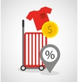 commercial marketing flat icons vector image