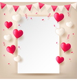 confetti with buntings ribbons and balloons vector image