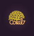 coral logo icon design template vector image vector image