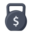 Debt Concept with Kettlebell vector image vector image