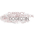 dogecoin word cloud concept vector image