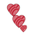 drawing red hearts healthy cardology love symbol vector image vector image
