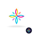 Flower people logo vector image vector image