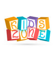 funny 3d baby colorful cubes with letters kids vector image