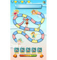 Game template with cute fairies vector image vector image