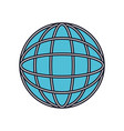 globe world icon colorful silhouette with thick vector image vector image