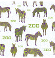 green zebra white background pattern vector image