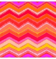Hand drawn zigzag pattern in tropical coral red vector image vector image