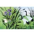 Heron birds watercolor vector image vector image