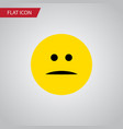 isolated mood flat icon displeased element vector image