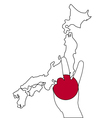 Japan hand signal vector image vector image