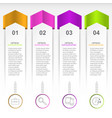 layout for infographic vector image vector image