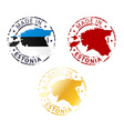 made in Estonia stamp vector image vector image