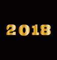 massive gold shining 2018 numbers isolated on vector image vector image