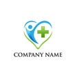 medical logo medical center logo vector image vector image