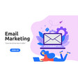 modern flat design for email marketing vector image vector image