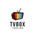 monitor television tv box logo icon template vector image