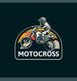 motocross badge emblem patch sign logo motocross vector image